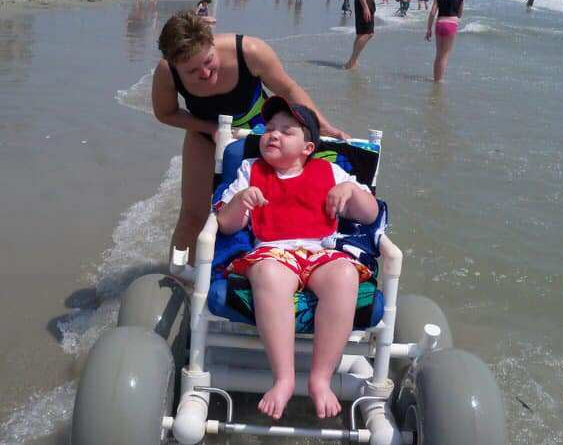 Nathan's family made sure that his special needs didn't stop him from enjoying life.